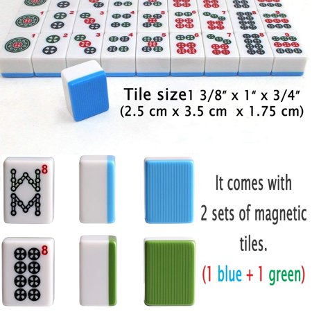Superb 166 Tiles American Automatic Mahjong Table Pedestal Comes 2 Sets Of Magnetic Tiles 166 Tiles 1 Blue 1 Green Download Free Architecture Designs Sospemadebymaigaardcom