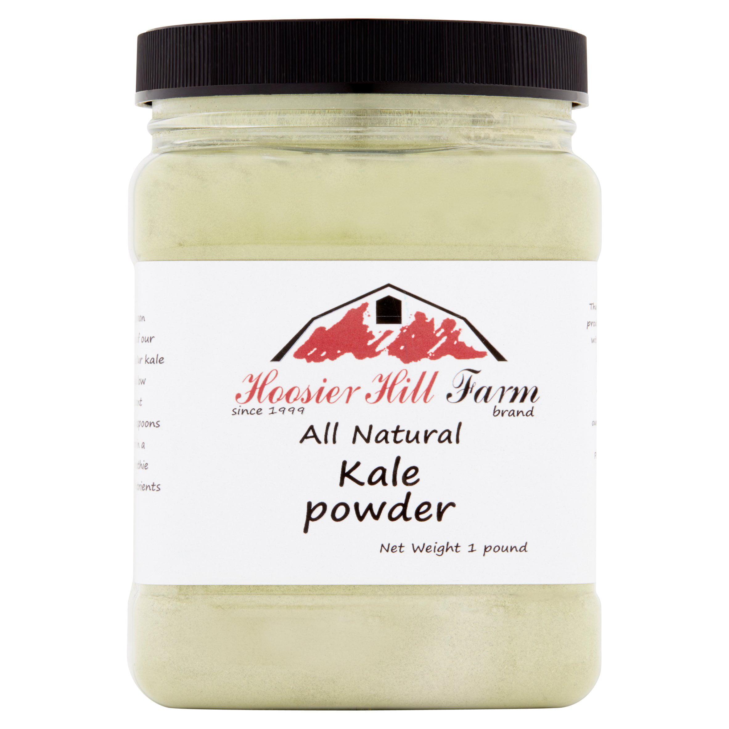 Hoosier Hill Farm Natural Kale Powder, Grown in the USA, 1 lb plastic jar