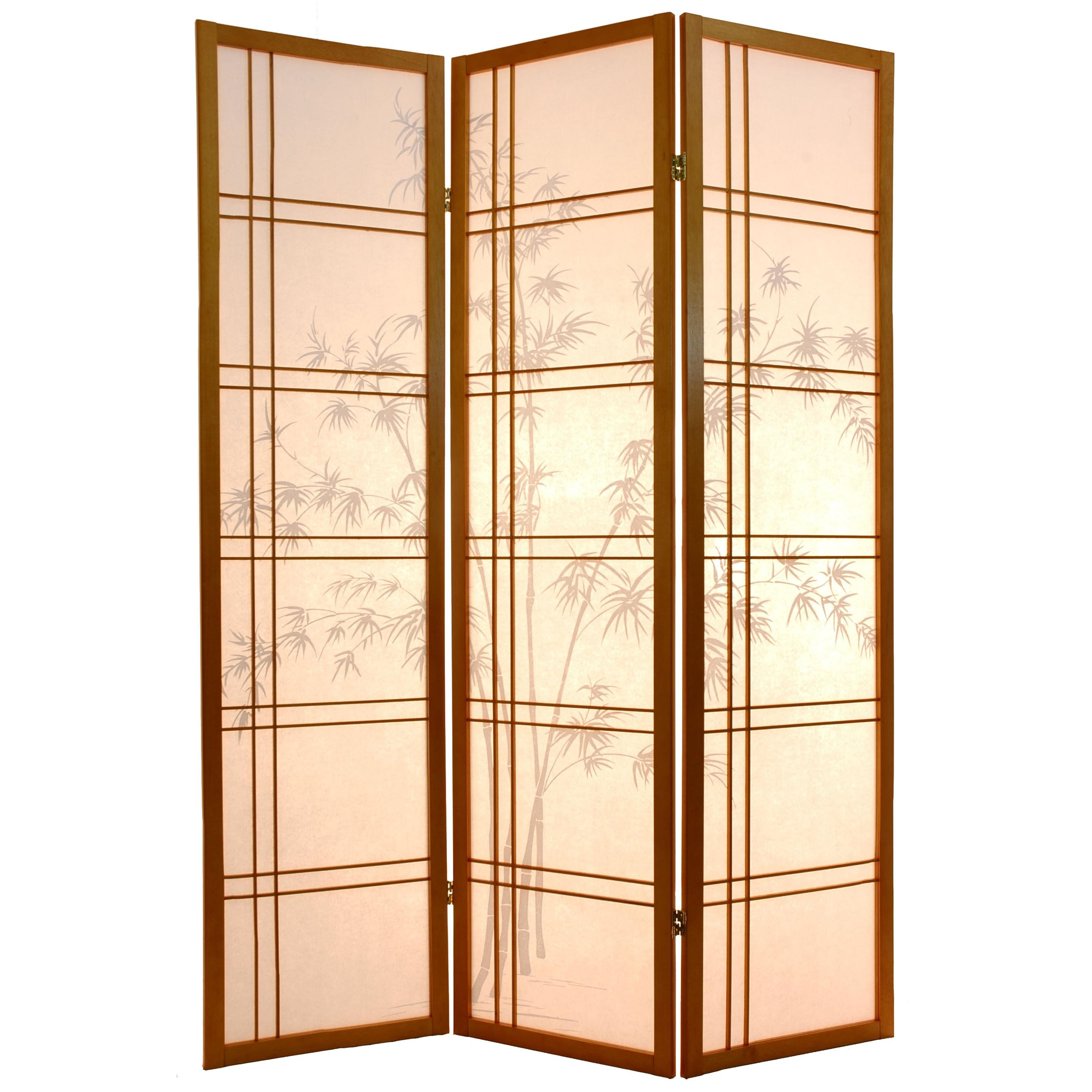Oriental Furniture Bamboo Tree Room Divider
