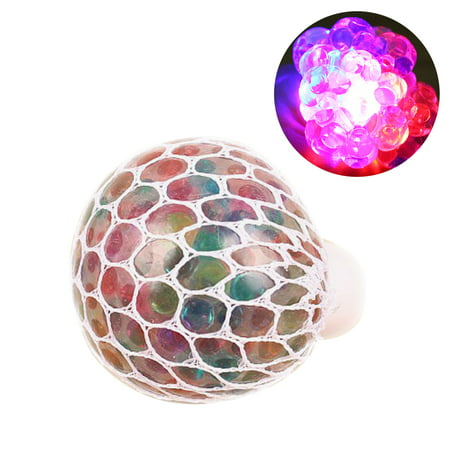 Uarter Mesh Squishy Ball Anti-stress Grape Balls Glowing Squeeze Toy Colorful Stress Relief Toys for People Aged over 15 Years - Superhero Stress Ball