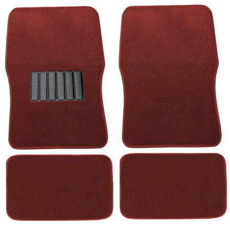 Premium Red Carpet Floor Mats 4pc Front Rear No-Slip Carpet For Honda