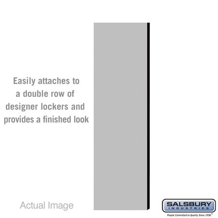 Salsbury 33333DE-GRY Double End Side Panel - for 6 Feet High - 18 Inch Deep Designer Wood Locker - without Sloping Hood - Gray