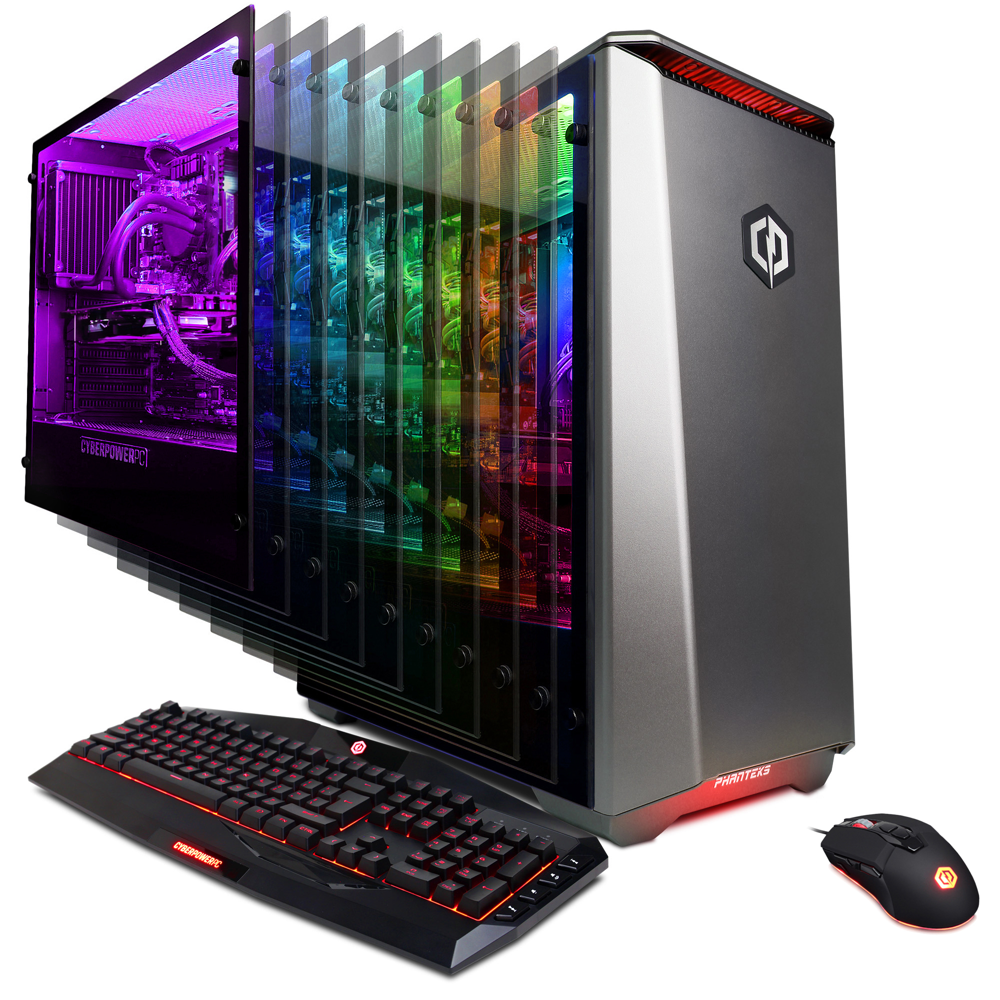CYBERPOWERPC Gamer Panzer Limited PL3800W Gaming PC w/ Liquid Cooled Intel i7+ 8086K 4.0GHz CPU, 8GB DDR4, NVIDIA GeForce GTX 1060 6GB, 1TB HDD + 16GB Intel Optane Memory, WiFi, Windows 10 Home 64-Bit