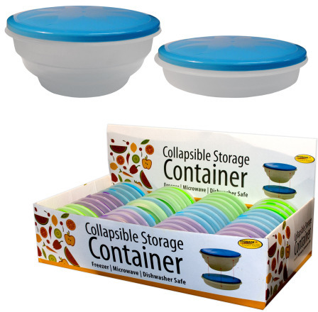 Ddi Collapsible Round Storage Container (pack Of 48)