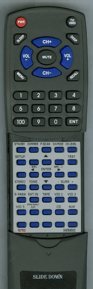 Replacement Remote for SHERWOOD RTRD7502, RC110, RD7502, R672 by Redi-Remote