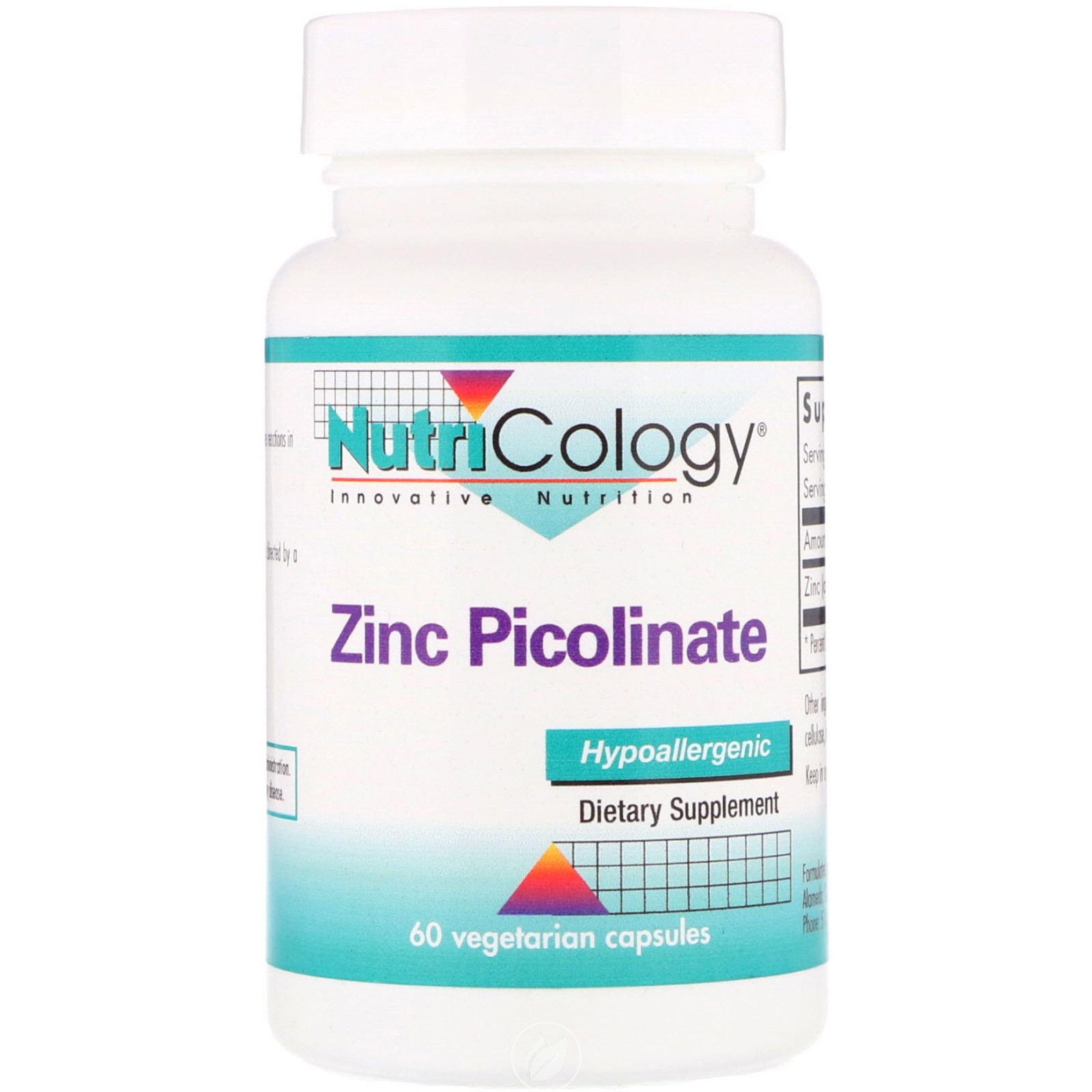 Nutricology Zinc Picolinate 60 Capsule, Pack of 2