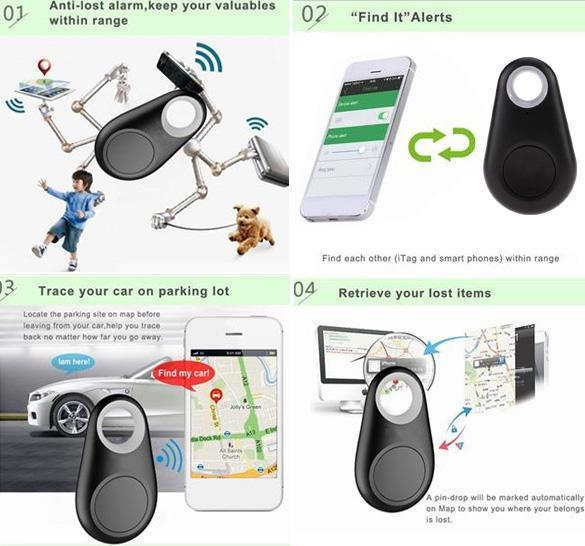 Smart Bluetooth Tracer GPS Locator Baby Pet Dog Tracker Tracer