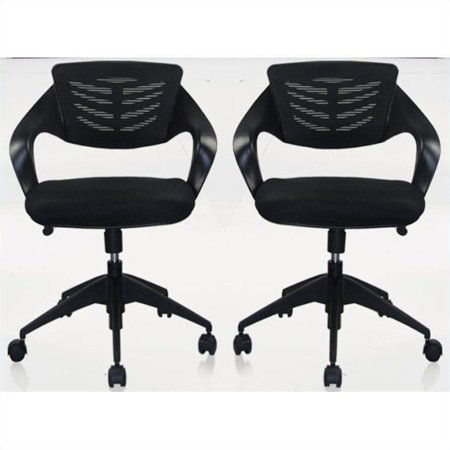 Manhattan Comfort Grove Office Chair in Black (Set of 2) ()