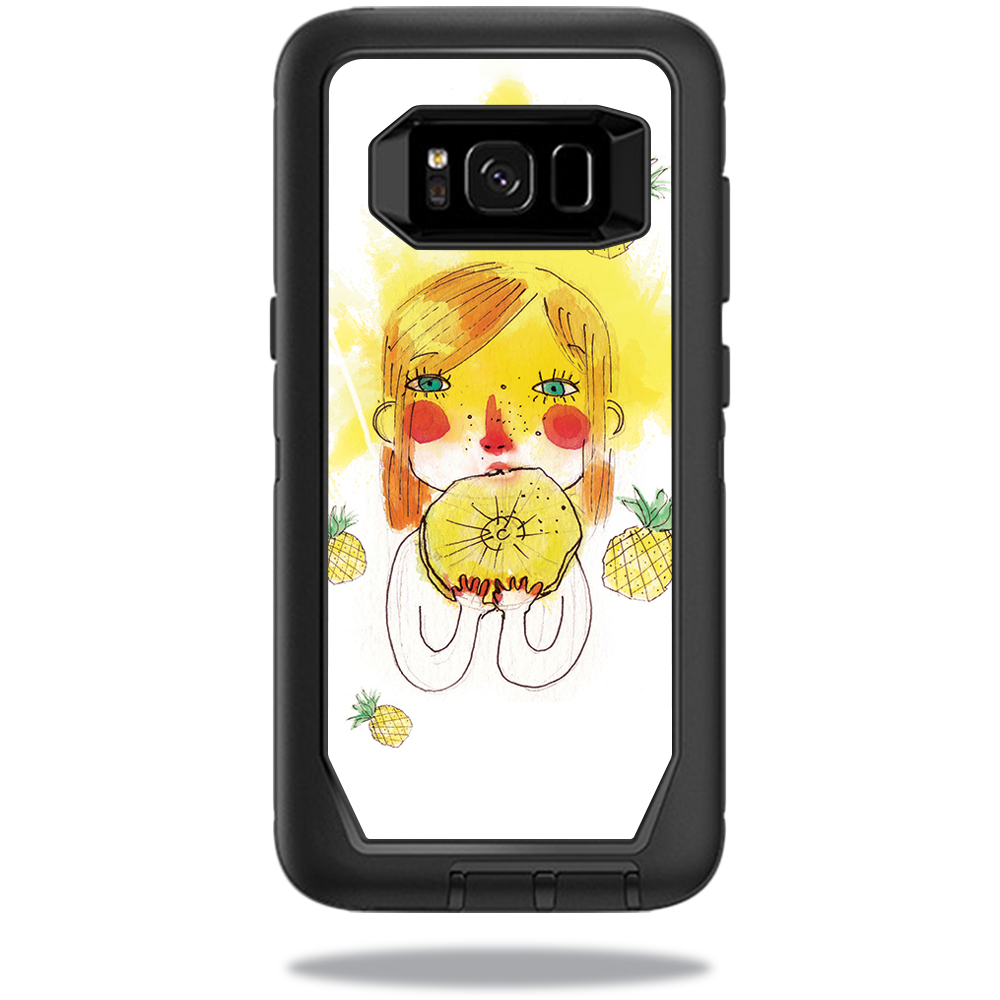 MightySkins Protective Vinyl Skin Decal for OtterBox DefenderSamsung Galaxy S8 Case sticker wrap cover sticker skins March Pineapple
