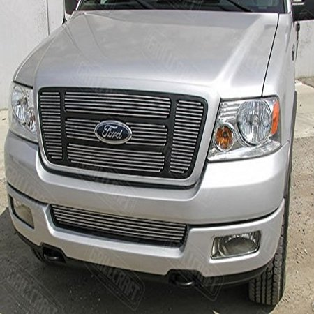 Grillcraft FOR1308-BAO BG Series Polished Aluminum Upper 6pc Billet Grill Grille Insert for Ford F150