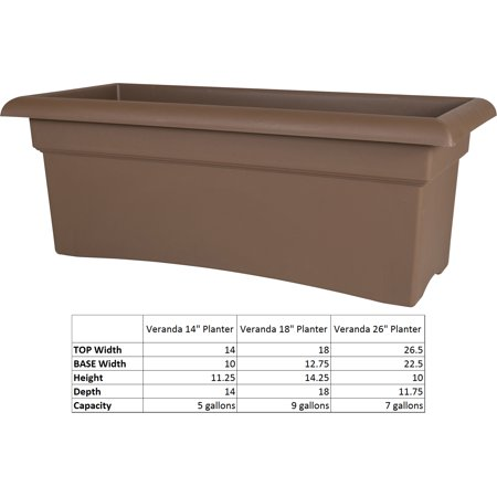- Bloem Veranda Window Deck Box Planter 26 x 11 Chocolate