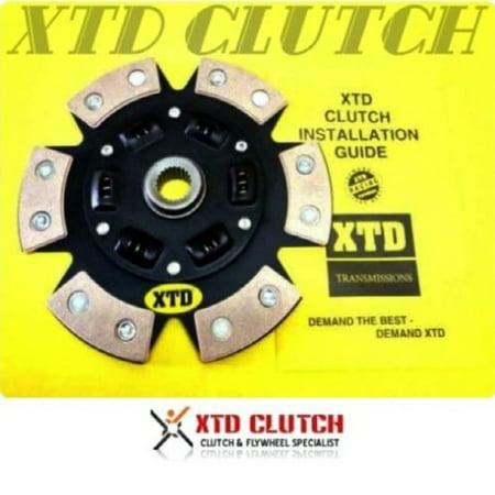 XTD 6 PUCK STAGE 3 CLUTCH DISC TOYOTA 5MGE 7MGE 2JZGE W58