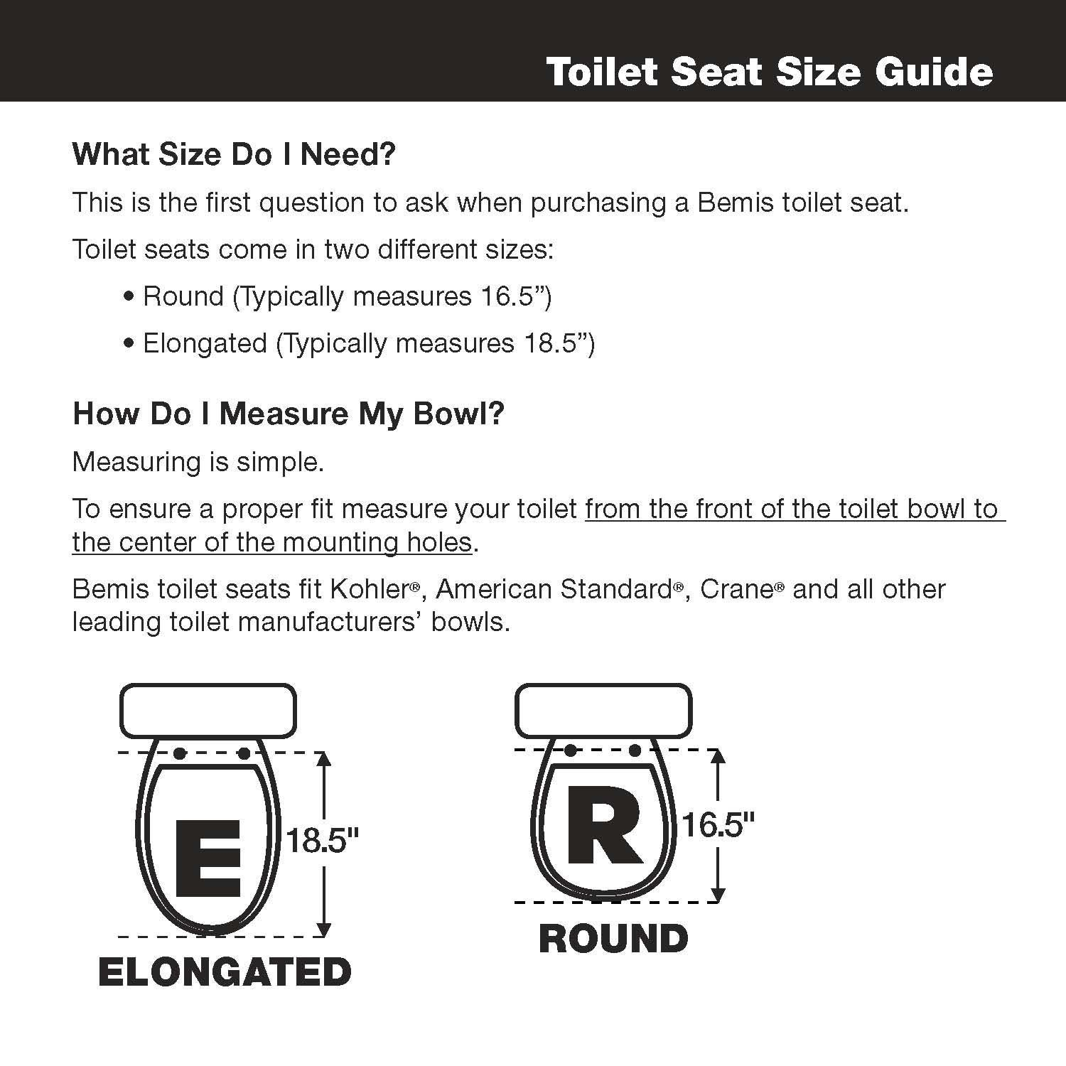 Brilliant Economy Molded Wood Round Toilet Seat Round 66Tt 000 Top Tite Hinge Bolt Securely Fits To The Bowl By Mayfair Onthecornerstone Fun Painted Chair Ideas Images Onthecornerstoneorg