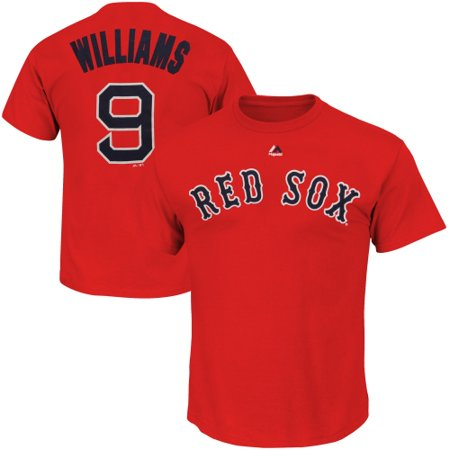 Ted Williams Boston Red Sox Majestic Cooperstown Player Name & Number T-Shirt - Red