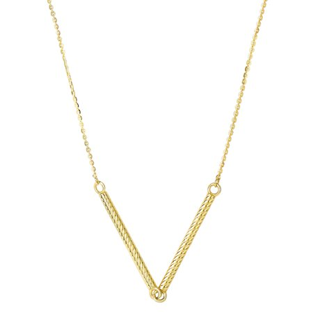 """14k Yellow Gold Cylinder Bar Pendant Necklace, 18"""" - image 1 of 1"""