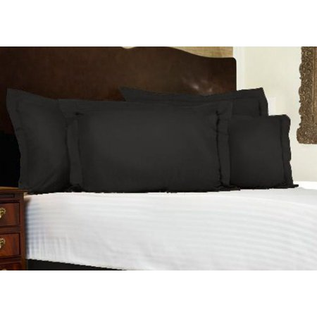 King Size Polyester Pillow Sham (Harmony Lane Classic Tailored Pillow Sham King Black )