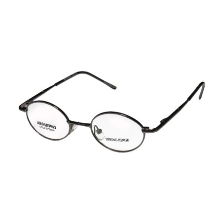 e5e5a90afc9 New Broadway Collection Flex 61 Unisex Boys Girls Kids Round Full-Rim  Gunmetal Classic In Style Frame Demo Lenses 37-16-120 Spring Hinges  Eyeglasses  ...