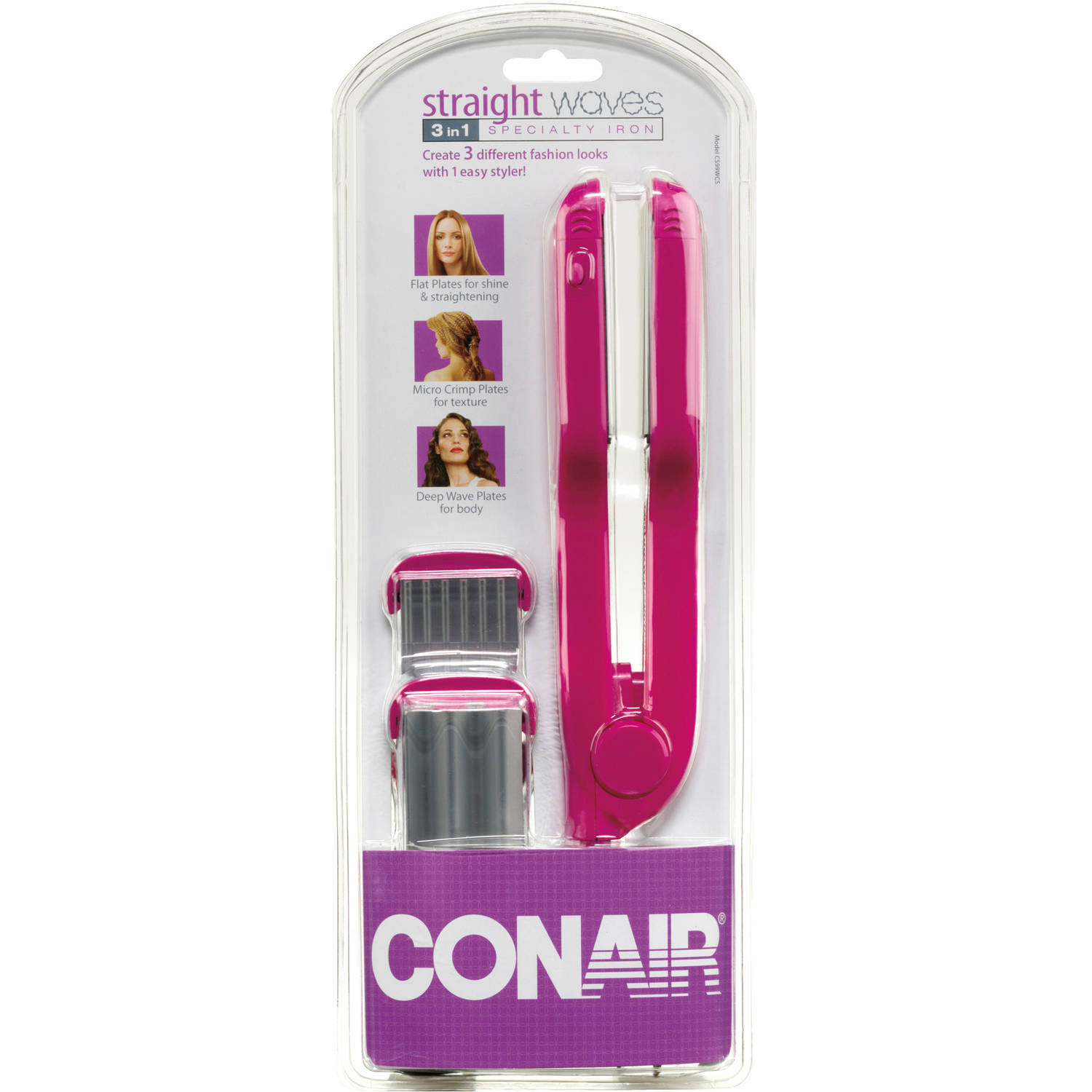 Conair Straight Waves 3 in 1 Specialty Iron