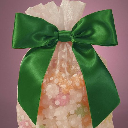 Hunter Green Pre-Tied 4.5 x 1.5 inches Satin Soft Ribbon Bow with Wire Tie for Gift Cello Bags, 12 pack