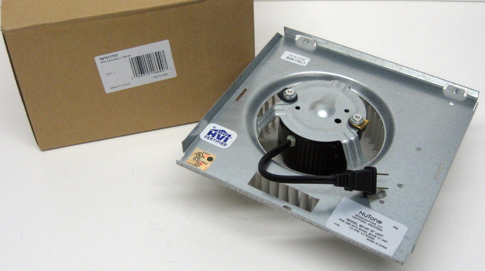 S 97017707 Broan Nutone Motor U0026 Blower Wheel For 8814R B   Walmart.com