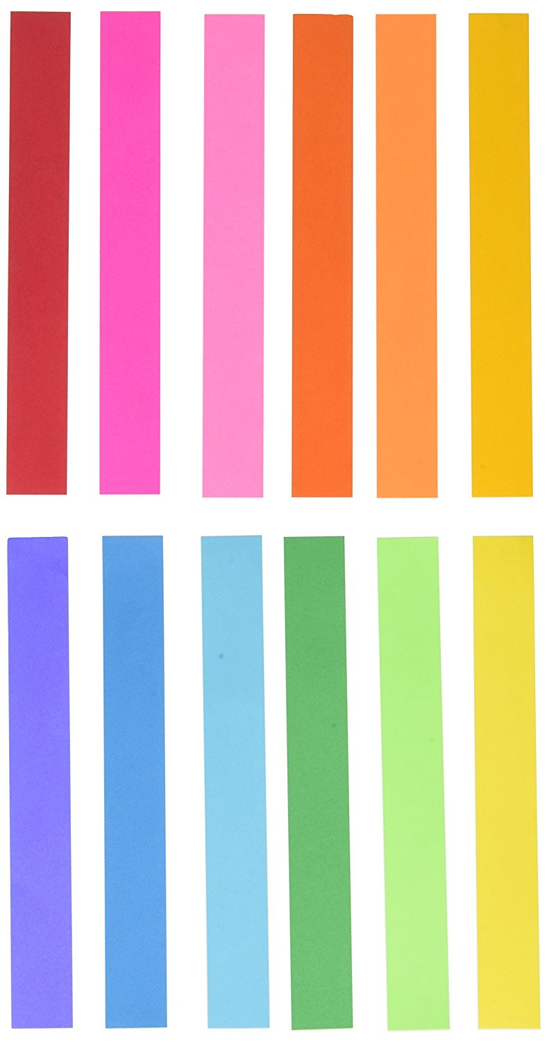 "Mighty Bright Paper Chain Strips 1""X8"" 180 Pkg-Assorted Colors, By Hygloss by"