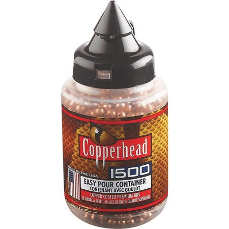 CROSMAN COPPERHEAD BBS .177 COPPER-COATED STEEL 1500 CARTON