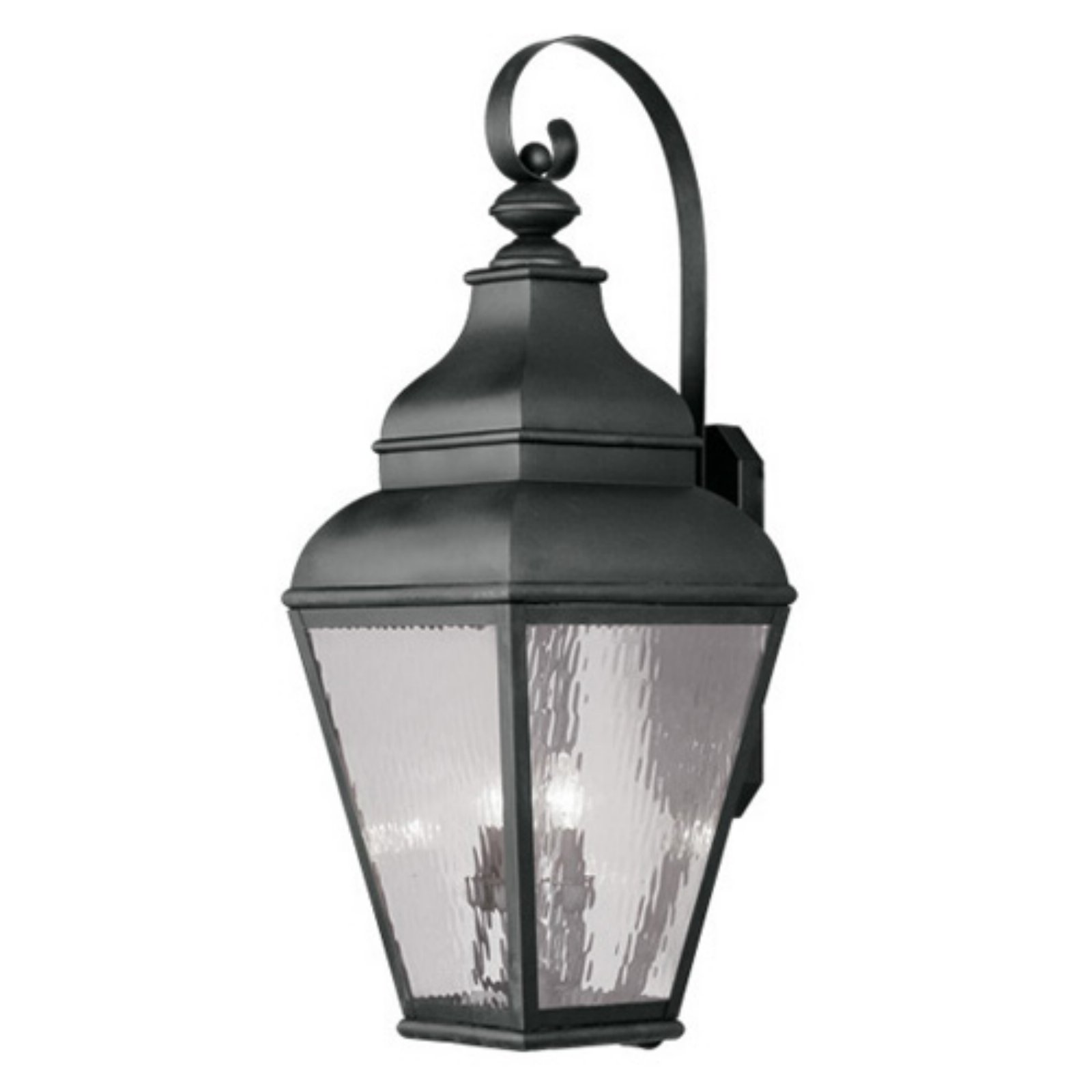 Livex Exeter 2607-04 Outdoor Wall Lantern - Black - 14W in.