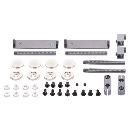 Front and Rear Body Mounts Stealth CNC with Magnet for 1/10 Traxxas Axial HSP HPI RC Touring Drifting Car ()