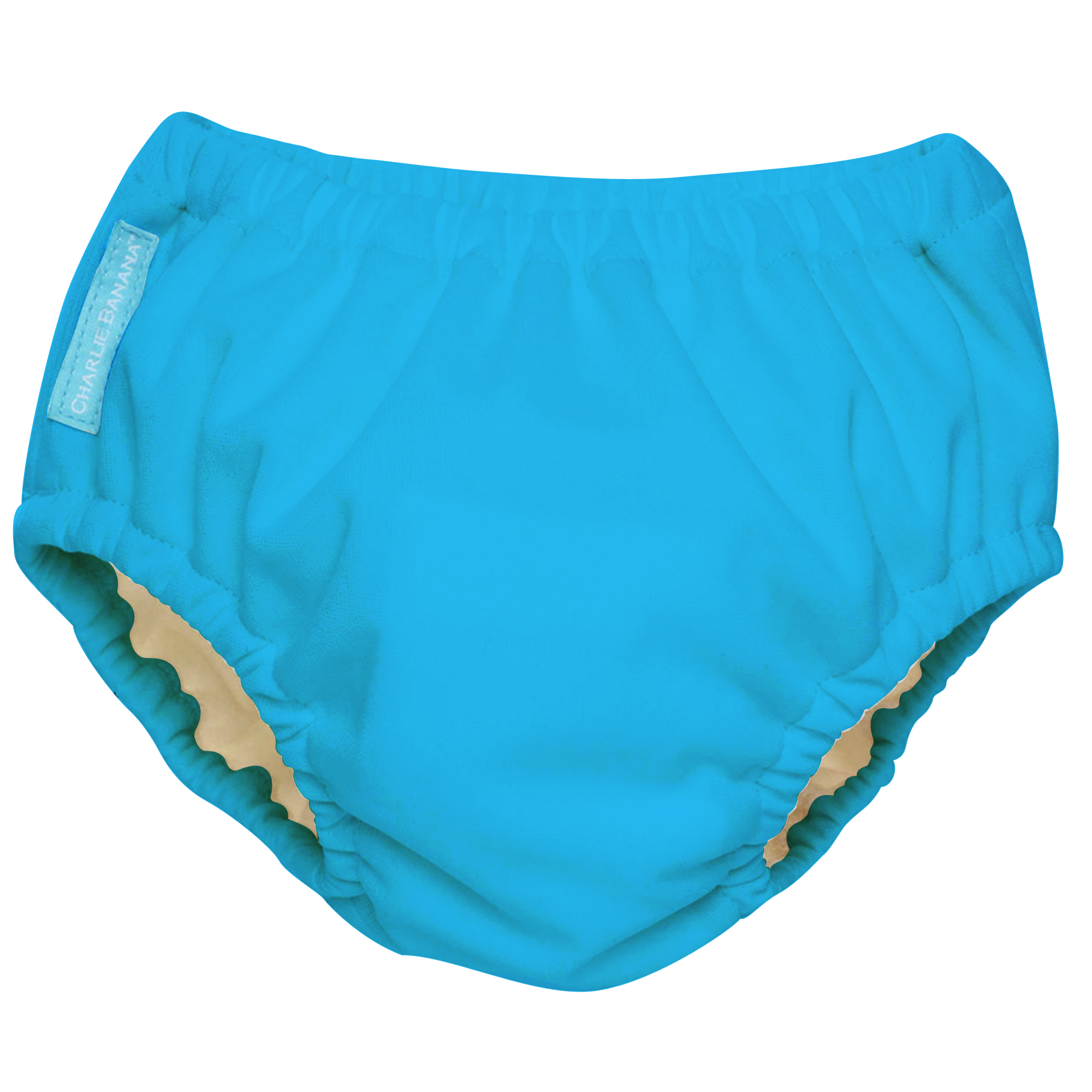 Charlie Banana Reusable Swim Diaper, Turquoise (Choose Size)