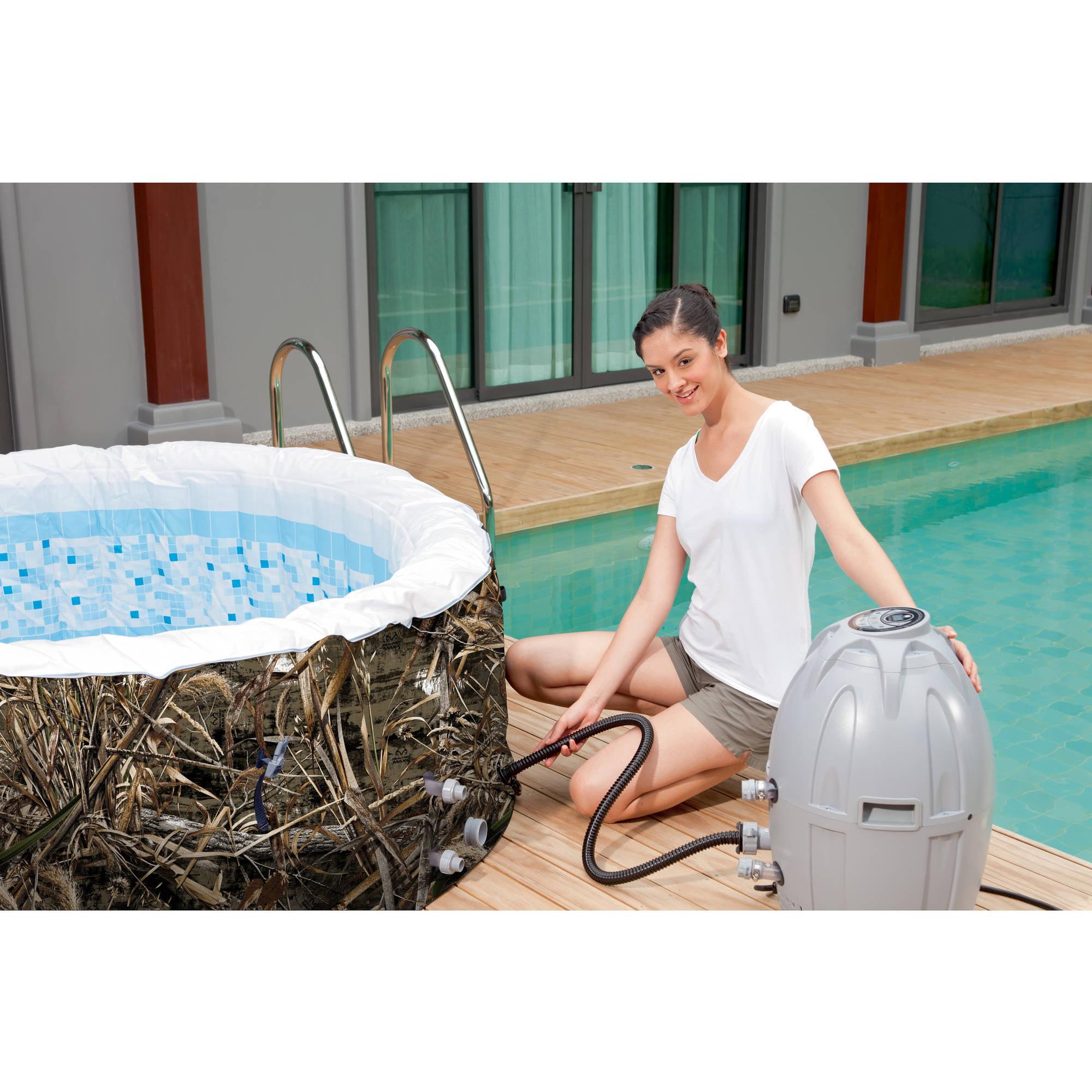Saluspa Realtree Max 5 Airjet 4 Person Portable Inflatable Hot Tub Spa