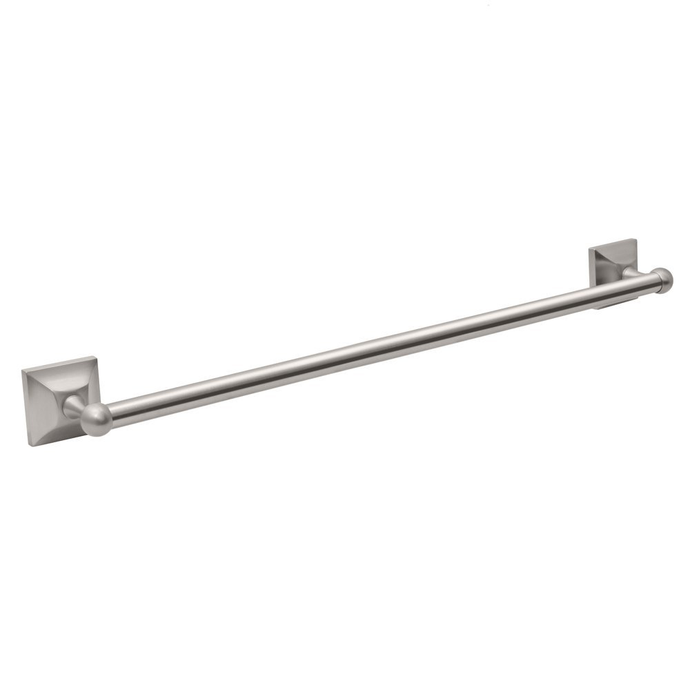 Gatco 4280 Meridian 3 4-Inch Diameter 24-Inch Length Towel Bar, Satin Nickel by Gatco