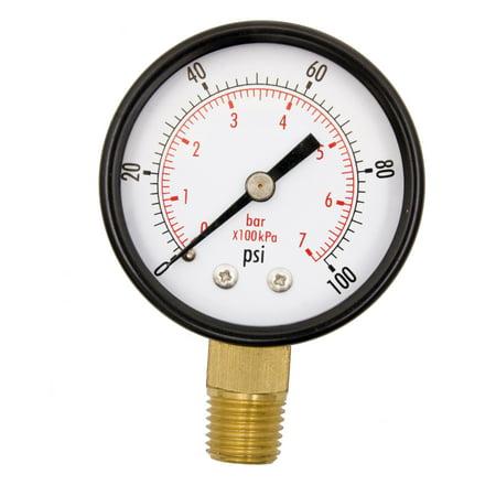 """2"""" Utility Pressure Gauge - 1/4"""" NPT Lwr Mount, 100PSI GSAD2012-100UPD"""