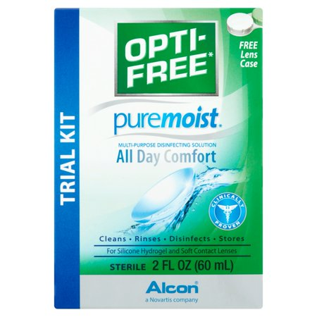 - Alcon Opti-Free PureMoist All Day Comfort Multi-Purpose Disinfecting Solution Trial Kit, 2 fl oz