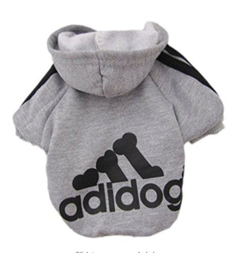 Dogs Cats Pet Clothes Hoodie Coat Puppy Apparel Shirt Sport Clothing