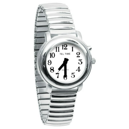 Ladies One Button Talking Watch- Chrome Expansion (Chrome Watch)