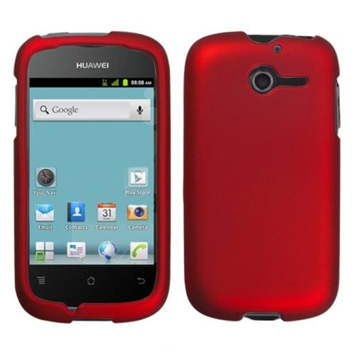 Insten Titanium Solid Red Phone Case for HUAWEI: M866 (Ascend Y)