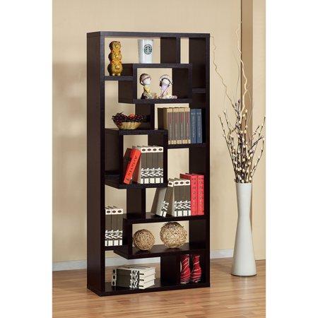 Furniture Of America Unique Wood Bookcase Display Cabinet