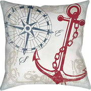 IDG Anchors Away White Indoor Pillow