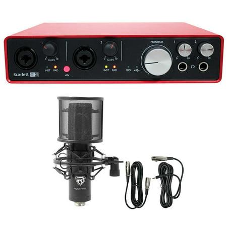 Focusrite SCARLETT 6I6 2nd Gen 192kHz USB Audio Recording Interface+Studio