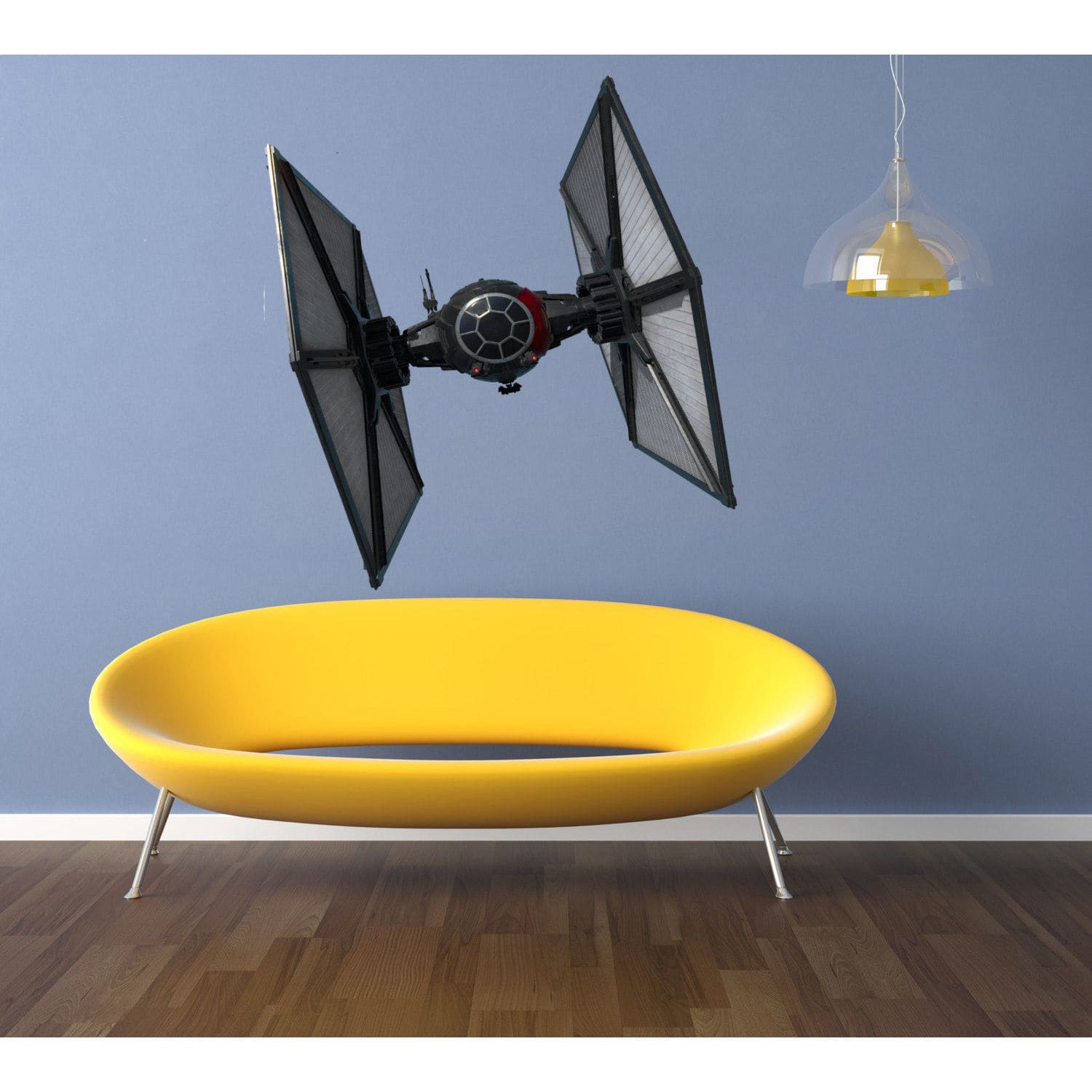 Stickalz llc Tie Fighter Full Color Decal, Full color sticker, colored Star Wars Sticker Decal size 48x57