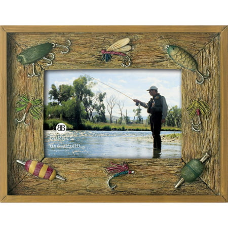 Burnes anchorage fishing lures 4x6 photo frame for Fish photo frame