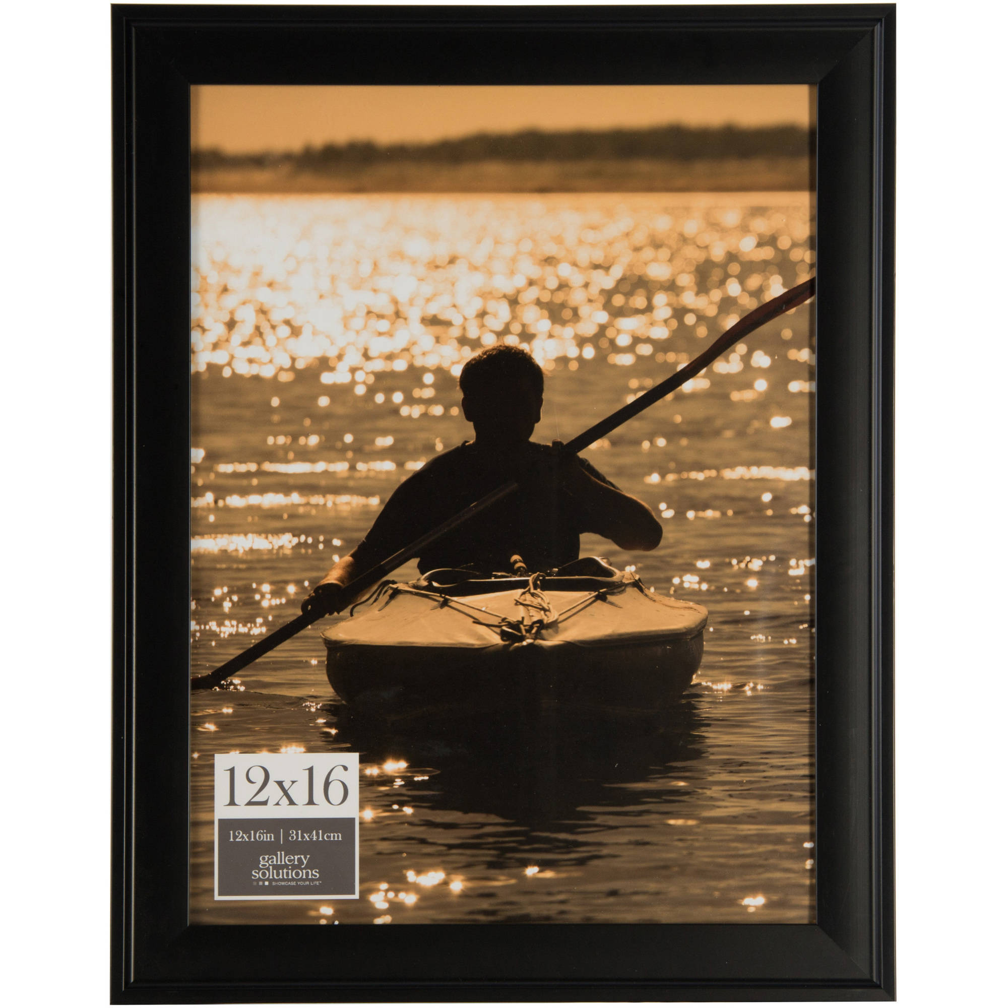 Gallery Solutions 12x16 Black Photo Frame