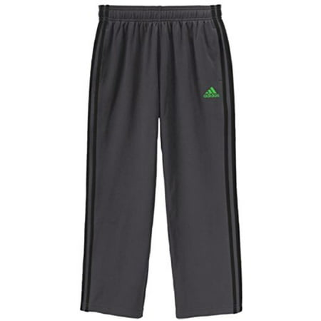 Adidas Performance Youth Boys Tech Fleece-Lined Pull-on Track Pant (Medium (10/12), Med. Grey / Lime Green)