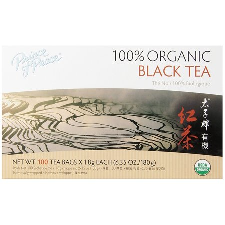 Prince of Peace Organic 5 Box Mix Black, White, Green, Jasmine, Oolong Tea, 100 Tea Bags Per Box