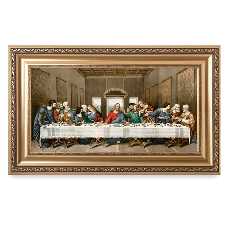 Art Framed Art Prints (DecorArts -The Last Supper, Leonardo da Vinci Classic Art Reproductions. Giclee Print& Museum Quality Framed Art for Wall Decor. 24x12