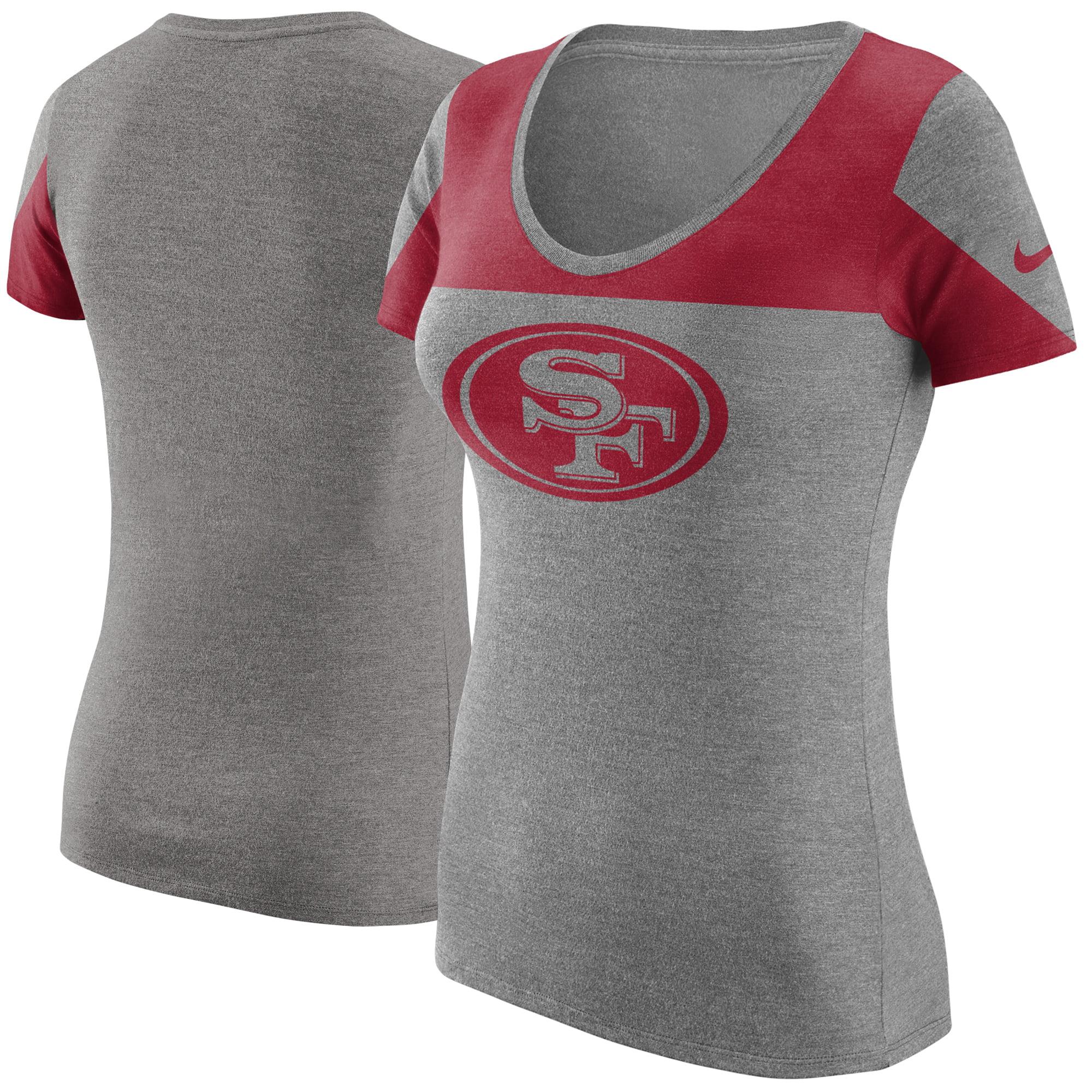 San Francisco 49ers Nike Women's Champ Drive 2 Tri-Blend T-Shirt - Heathered Gray