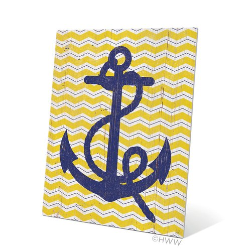 Click Wall Art Vintage Anchor Graphic Art Plaque