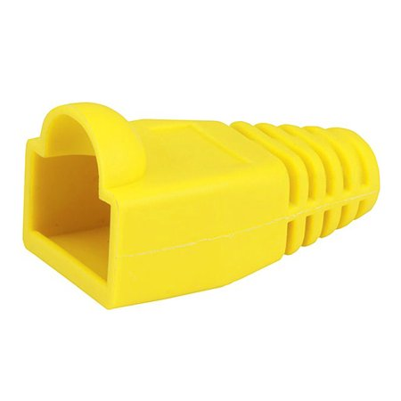 Monoprice RJ45 Strain Relief Boots, 50 pcs/pack, Yellow