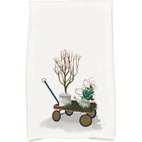 Farmhouse Holiday Geometric Print Hand Towel