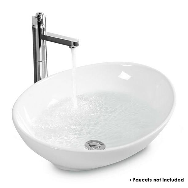 Costway Oval Bathroom Basin Ceramic, Bathroom Basin Sink